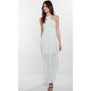Express white maxi dress empire waist crochet